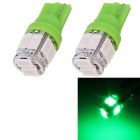T10 5W 240lm 10 x SMD 5630 LED Green Light Car Turn Signal Corner Parking Lamp (DC 12V / 2 PCS)