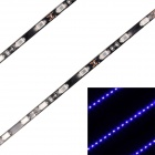 13.5W 1080lm 480nm 45-SMD 5630 LED Blue Light Car Decoration Strip Lamp - Black (45cm / 2 PCS / 12V)