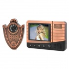 "2.8 ""Screen-Video-Türsprechanlage w / Night Vision - Schwarz + Bronze"