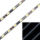 13.5W 1080lm 45-SMD 5630 LED White Light Car Decoration Light Strip - Black + Yellow (45cm / 2 PCS)