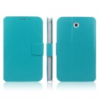 ENKAY ENK-7030 PU Leather Case Cover Stand for Samsung Galaxy Tab 3 7.0 T2100 / T2110 - Blue Green