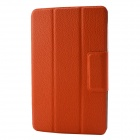 "Protective PU Leather + PC + Microfiber Case Cover Stand for Google Nexus 7"" - Orange"