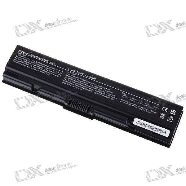 Toshiba TA300 Compatible 4800mAh Replacement Battery for Toshiba Equium A200/Satellite A200 + More