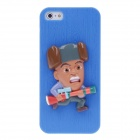 Men Pattern Protective PVC Back Case for iPhone 5 - Multicolored