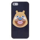 Bear Pattern Protective PVC Back Case for iPhone 5 - Black + Yellow + Brown