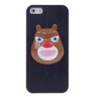 Bear Pattern Protective PVC Back Case for iPhone 5 - Multicolored