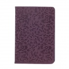 Honeycomb Texture Style Protective PU Leather Case Cover Stand w/ Auto-Sleep for Ipad MINI - Purple