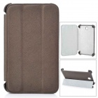Cross Pattern Protective PU Leather Case for Samsung T210 - Light Brown