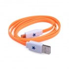 Blinkt High Speed ​​Micro-USB-Stecker auf USB 2.0-Stecker Data Sync / Ladekabel - Orange (104cm)