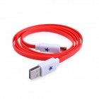 Blinkt High Speed ​​Micro-USB-Stecker auf USB 2.0-Stecker Data Sync / Ladekabel - Rot (104cm)