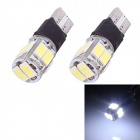 T10 5W 240lm 10x SMD 5630 Flashing LED White Light Turn Signal Corner Parking Lamp (DC 12V / 2 PCS)