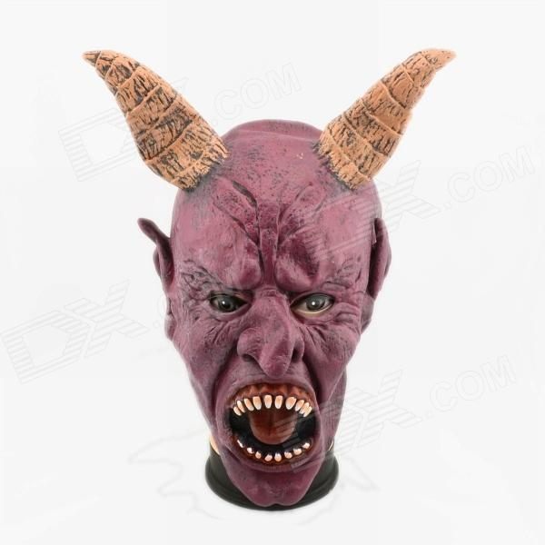 Halloween Ox Horn Devil Mask - Dull Red yeduo black sexy lady lace mask for masquerade halloween party fancy dress costume