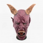 Halloween Ox Horn Devil Mask - Dull Red
