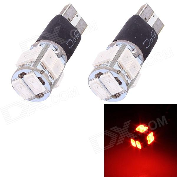T10 5W 240lm 10 x SMD 5630 Flashing Red Light Car Turn Signal Corner Parking Lamp (DC 12V / 2 PCS) cawanerl car 5630 smd led bulb led kit package white truck dome map trunk license plate light for 2009 2016 dodge ram 1500