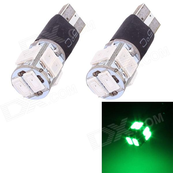 T10 5W 240lm 10x SMD 5630 Flashing Green Light Car Turn Signal Corner Parking Lamp (DC 12V / 2 PCS) h1 super bright white high power 10 smd 5630 auto led car fog signal turn light driving drl bulb lamp 12v