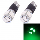 T10 5W 240lm 10x SMD 5630 Flashing Green Light Car Turn Signal Corner Parking Lamp (DC 12V / 2 PCS)