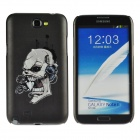 Colorfilm Skull Pattern Protective Plastic Back Case for Samsung Galaxy Note 2 N7100 - Deep Grey