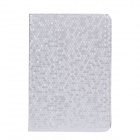 Honeycomb Texture Style Protective PU Leather Case Cover Stand w/ Auto-Sleep for Ipad MINI - Silver