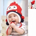 Cartoon Monkey Style Children's Protective Ears Cap - Red + White