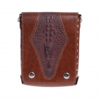 CK10K Fashionable High-Grade Head Layer Cowhide Men's Business Bag - Brown