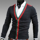 Fashionable Personality Cardigan for Men - Black (Size-L)