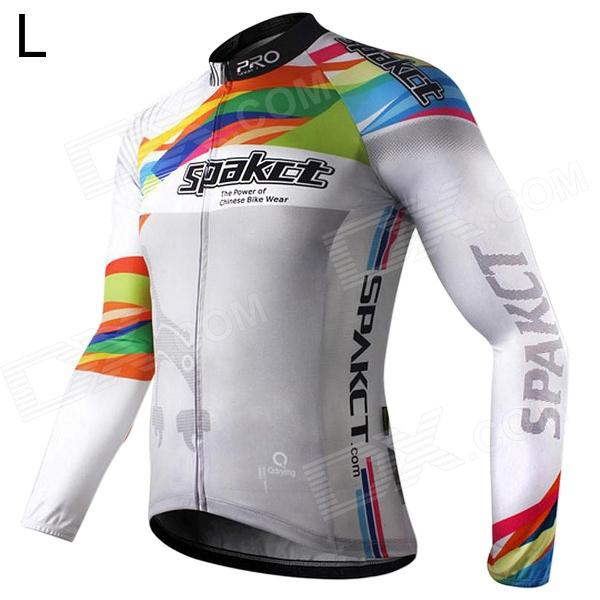 Spakct Polyester Long Sleeves Riding Cycling Jersey for Men (L) велосипед scott solace 20 disc 28 2016