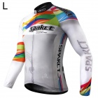 Spakct Polyester Long Sleeves Riding Cycling Jersey for Men (L)