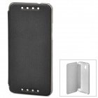 Protective PU Leather + PC Case for HTC Mini M4 - Black