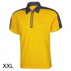 Baohusan 0959 Quick-drying Outdoor Travel Polyester Polo Shirt for Men - Yellow + Grey (XXL)