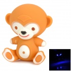 Cartoon Monkey Style Blue Light LED Keychain - Yellow (3 x AG10)