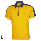 Baohusan 0959 Quick-drying Outdoor Travel Polyester Polo Shirt for Men - Yellow + Grey (L)