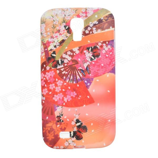 Sakura Pattern Protective Silicone Back Case for Samsung Galaxy S4 i9500 - Red protective cute spots pattern back case for samsung galaxy s4 i9500 multicolored