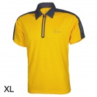 Baohusan 0959 Quick-drying Outdoor Travel Polyester Polo Shirt for Men - Yellow + Grey (XL)