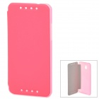 Protetora PU Leather Case + PC para HTC Mini M4 - Rosa