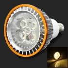 E14 5W 300LM 3500K 5-LED Warm White Light Spotlight - Silver + Golden (85~265V)