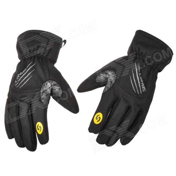 Spakct Cycling Water Resistant Full Finger Glove - Black (XXL)
