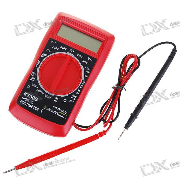 "2.0"""" LCD Current/Voltage/Resistance Digital Multimeter (2*AAA)"