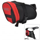 ROSWHEEL Cycling Bicycle Saddle Seat Polyester Tail Bag - Red + Black