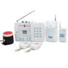 JiaHui D04 Telephone Anti-Theft Alarm Device w/ 99 Zones - White + Silver