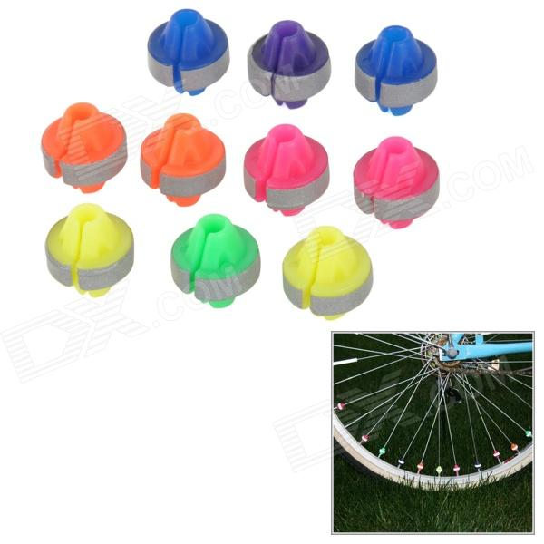 Bicycle Steel Wire Reflective Bead - Multicolored (10 PCS)
