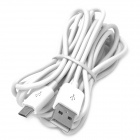 Micro USB Male to USB Male Charging Data Cable for Sony Xperia Z + HTC One Mini - White (300 CM)
