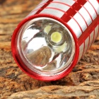 Y-05J 3W LED 50lm 1-Mode White Flashlight - Red + Silver (1 x AA)