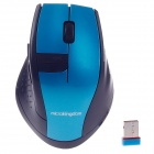 Microkingdom X-200 Vogue 2.4G Wireless 1000dpi Optical Mouse - Blue + Black (1 x AA)