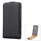Protective Flip-Open PU Leather Case for Nokia Lumia 520 - Black