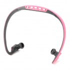 Stylish Sports Rechargeable In-Ear MP3 Player Headset w/ FM / TF - Pink + Grey