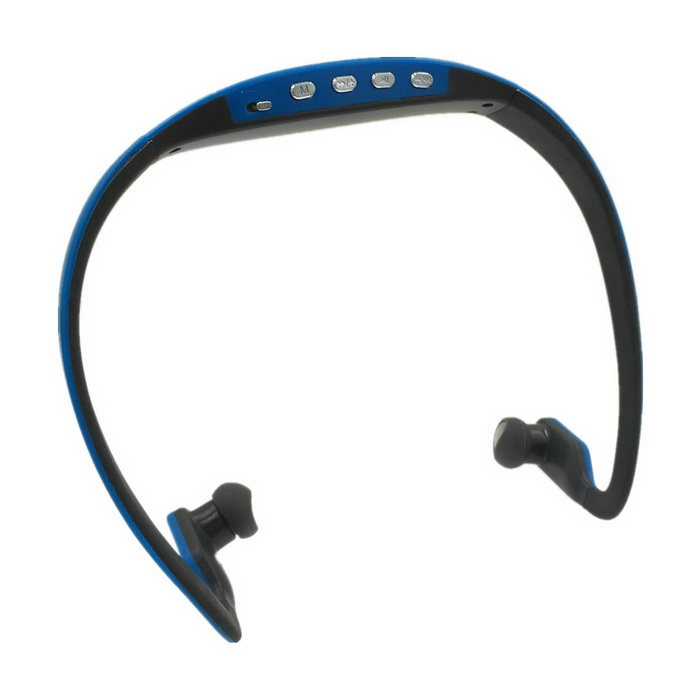 Sports MP3 Player / Headphone w/ Mini USB / TF Card Slot - Blue + Grey