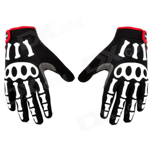 Spakct Cool006 Knuckle Riding Cycle Full-finger Gloves - Black + White + Red (XL / 22cm) spakct s13g10 bicycle cycling full finger gloves black white xl