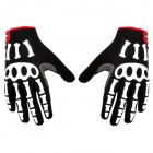 Spakct Cool006 Knuckle Riding Cycle Full-finger Gloves - Black + White + Red (XL / 22cm)