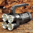 UltraFire 2000lm 4-Mode White Handheld Flashlight w/ 4 x CREE XM-L U2 - Black + Silver (4 x 18650)