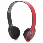 Stereo Bluetooth V2.1+ EDR Headset w/ TF Slot / FM Radio / Microphone - Red + Black